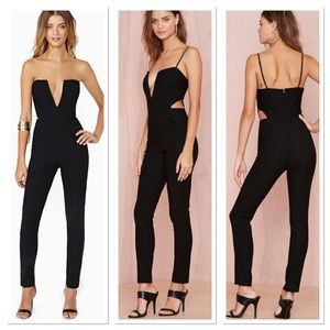 Nasty gal midnight run cut out jumpsuit